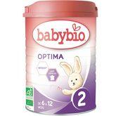 Babybio Babybio Optima lait 2ème âge en poudre de 6 à 12 mois 900g