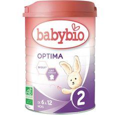 BABYBIO Optima lait 2ème âge en poudre bio dès 6 mois 900g