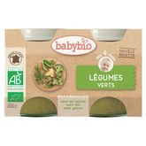 Babybio légumes verts 2x130g dès 4 mois