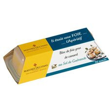 MAISTRES OCCITANS Bloc de foie gras de canard au sel de Guérande 16 pièces 110g