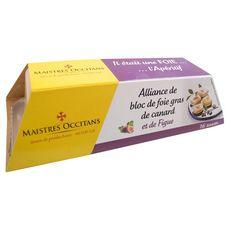 MAISTRES OCCITANS Alliance de bloc de foie gras de canard et de figues 16 pièces 110g
