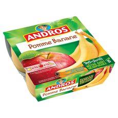 ANDROS Spécialité pomme banane 4x100g