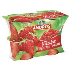 Andros délice aux morceaux de fraise 4x100g