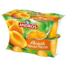 Andros délice aux morceaux d'abricot 4x100g