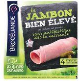 Brocéliande Brocéliande Jambon Bien Elevé sans couenne 4 tranches 160g
