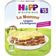 HiPP lasagnes bolognaise assiette 250g dès 15 mois