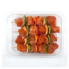 Brochettes de filet de poulet mariné avec poivrons et oignons 1250g
