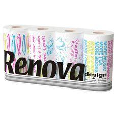 RENOVA Renova Essuie-tout décoré design x4 4 rouleaux