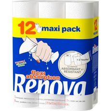 Renova Essuie-tout demie feuille flexi absorption x12