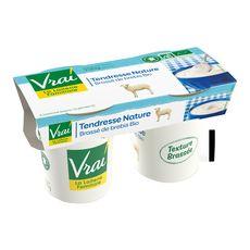 VRAI Vrai yaourt brassé bio au lait de brebis nature 2x115g 2x115g
