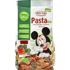 DALLA COSTA Pâtes bio Disney Mickey Mouse aux tomates et épinards 300g