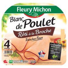 Fleury Michon Blanc poulet rôti à la broche 4 tranches 120g