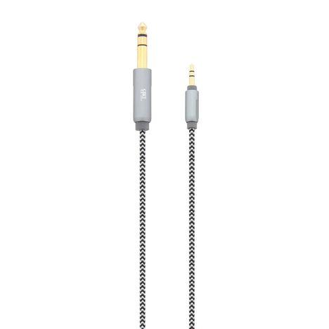 TNB Câble audio CBJACK635 - Jack 3,5 mm vers 6,35 mm - Longueur 1 m - Gris