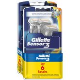 Gillette rasoir jetable sensor 3 base x6