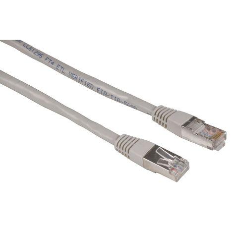 QILIVE Câble réseau droit - RJ45 Mâle / RJ45 Mâle - 20 M - Cat.5E - Gris