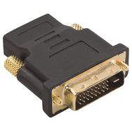 QILIVE Adaptateur HDMI type A femelle / DVI-D mâle - Plaqué Or - Noir