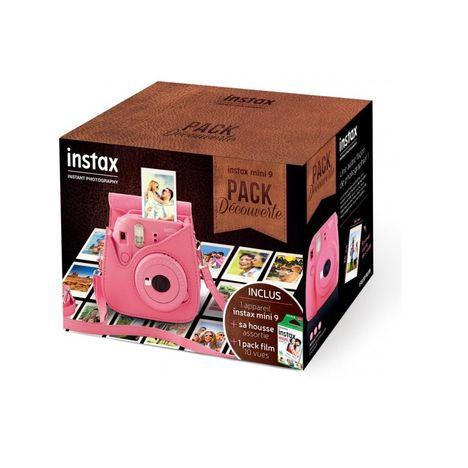 FUJIFILM Pack Découverte Appareil Photo Instantané - Instax Mini 9 - Rose Corail