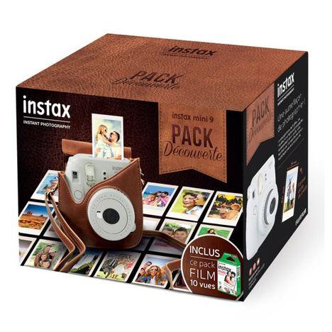 FUJIFILM Appareil Photo Instantané - Pack Découverte INSTAX Mini 9 - Blanc + Housse + 10 Films