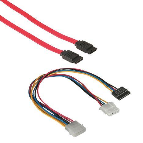 QILIVE Câbles SATA + Y POWER - 1 M