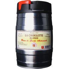 LA CHOULETTE La choulette Bière blonde artisanale mini fût pression 7,5% 5l 5l