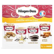Haagen Dazs vanilla attraction  x4 -344g