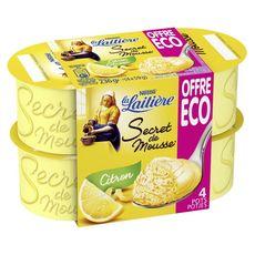 LA LAITIERE La Laitière secret de mousse citron 4x120g prix choc