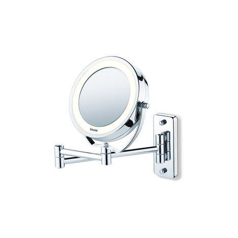 BEURER Miroir lumineux grossissant BS 59, Fixation murale et pieds