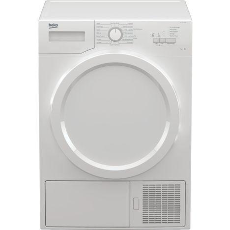BEKO Sèche linge porte pleine DS7331PA0W, 7Kg, Condensation, Pompe à chaleur