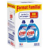 X•TRA Xtra lessive diluée total 2x2,2l format familial