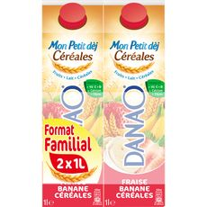 Danao fraise banane céréales 2x1l