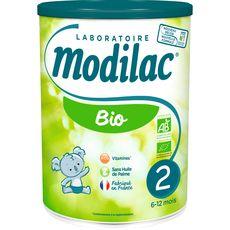 Modilac lait 2éme âge bio 800g de 6mois à 1an