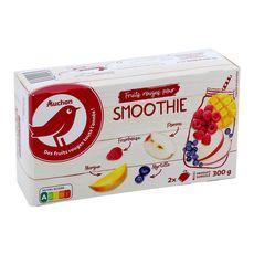 AUCHAN Fruits rouges pour smoothie 2 pièces 300g