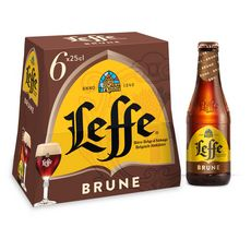 LEFFE Bière brune 6,5% bouteilles 6x25cl