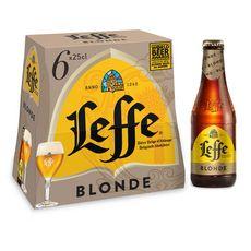 Abbaye de leffe Bière blonde 6,6% bouteilles 6x25cl