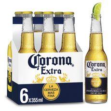 CORONA Bière blonde mexicaine 4,6% bouteilles 6X35,5cl