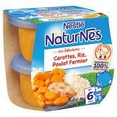 Nestlé Naturnes sélection riz carotte poulet 2x200g dès 6 mois