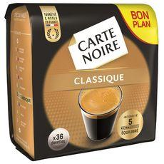 CARTE NOIRE Dosettes de café classique 36 dosettes 250g