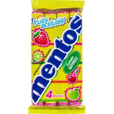 Mentos fruits acidulés rouleau x4 -150g