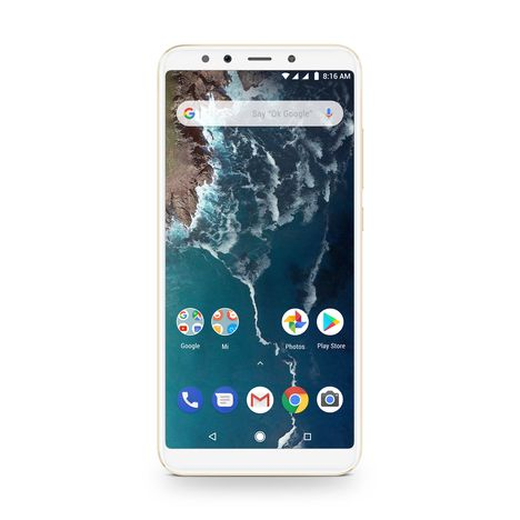 XIAOMI Smartphone Mi A2 - 64 Go - Ecran 5.99 pouces - Or - Double SIM - 4G