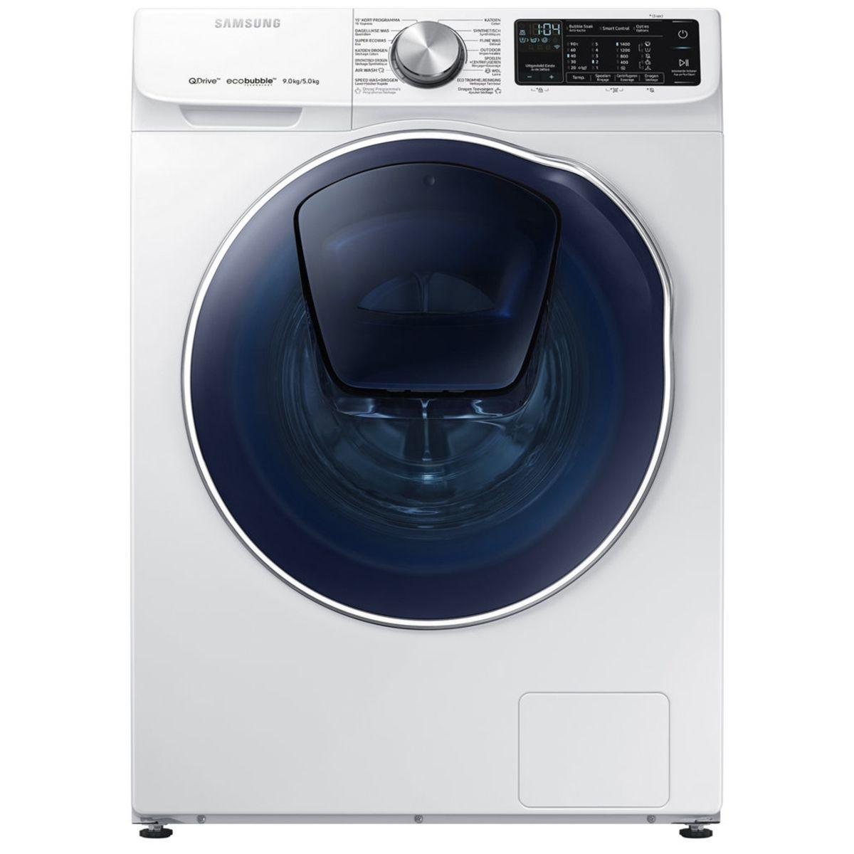 Lave linge séchant hublot WD91N642OOW ADD WASH, Eco bubble, 9 Kg Lavage, 5 Kg Séchage, 1400 T/min
