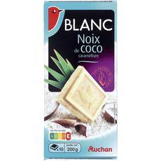 Auchan chocolat blanc à la noix de coco 200g