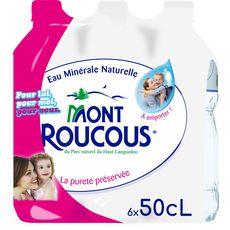 Mont roucous Eau minérale naturelle plate bouteilles 6x50cl