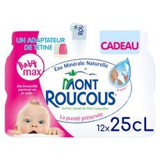 Mont roucous Eau minérale naturelle plate bouteilles 12x25cl