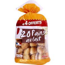 AUCHAN Pains au lait 20 pièces + 4 offertes 840g