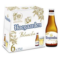 HOEGAARDEN Bière blanche 4,9% bouteilles 6x25cl