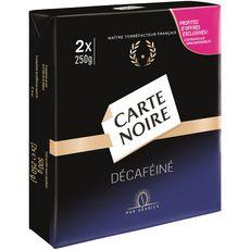 CARTE NOIRE Carte Noire Café moulu décaféiné 2x250g 2x250g