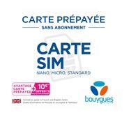 BOUYGUES Carte SIM Prépayée Sans Abonnement
