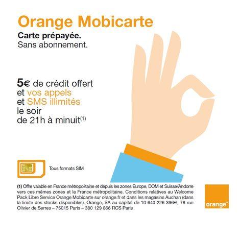 ORANGE Carte SIM Prépayée Sans Abonnement