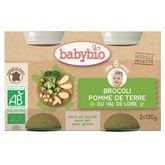 Babybio pomme de terre brocolis 2x130g dès 6 mois