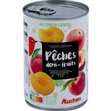 Auchan pêche demi-fruits au sirop léger 230g